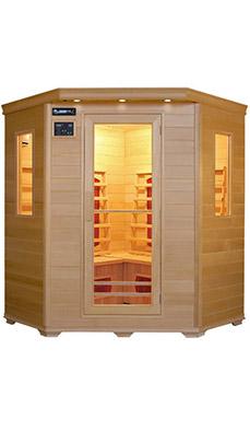 n°7 : Cabine pour 2 personnes/sauna d'angle pour 4 personnes
