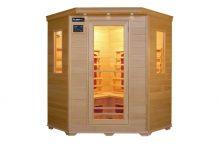 Trade Line Partner Sauna d'angle 4 personnes : un sauna infrarouge modulable et facile à utiliser